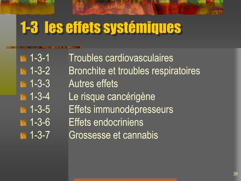 1-3les effets systémiques