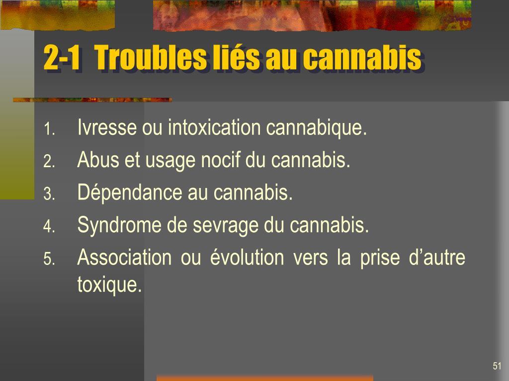 2-1Troubles liés au cannabis
