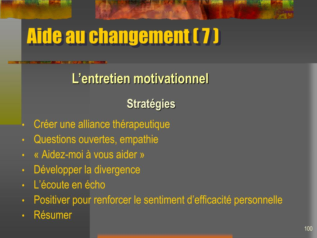 Aide au changement ( 7 )