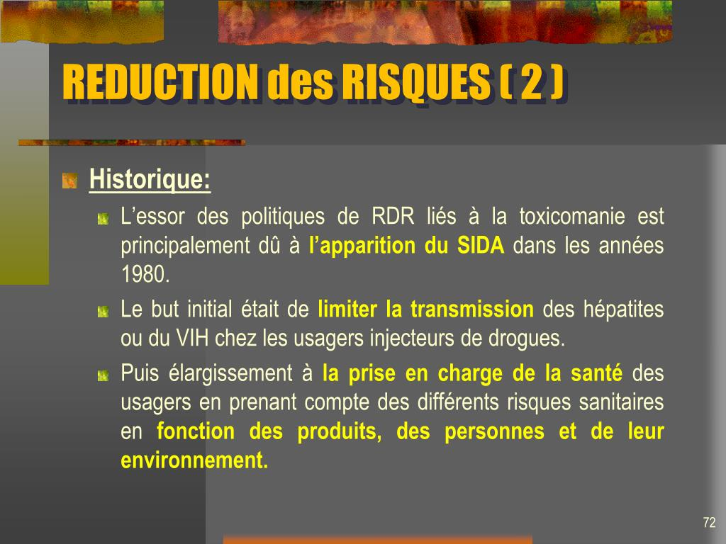 REDUCTION des RISQUES ( 2 )