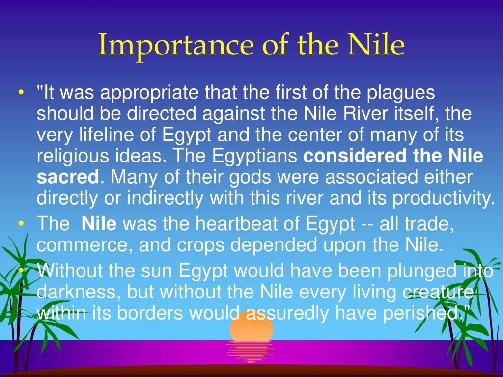 Importance of the Nile