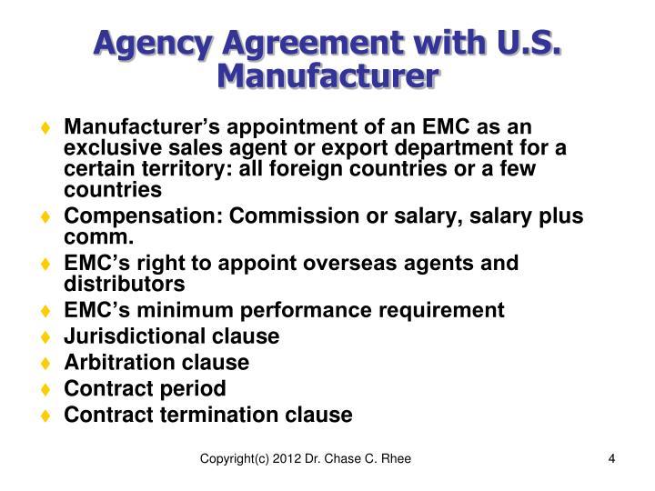 Ppt Chapter Xxvii Overseas Agents Distributors Agency