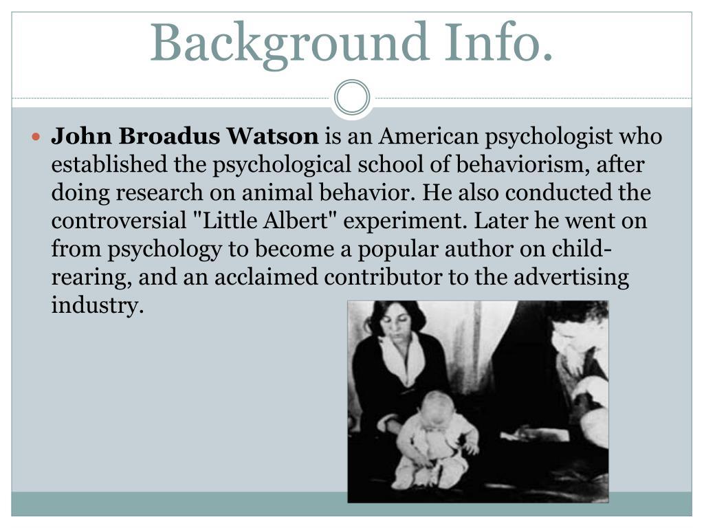 john b watson theory