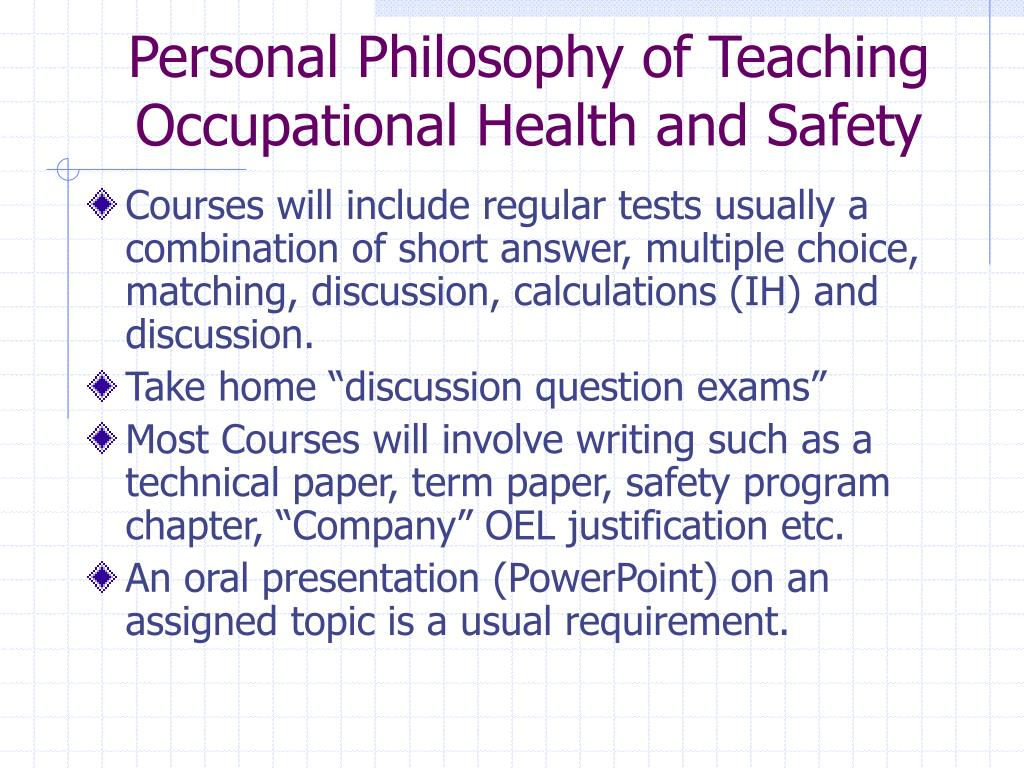 PPT - Occupational Health and Safety Masters Program PowerPoint