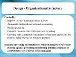 design organizational structure