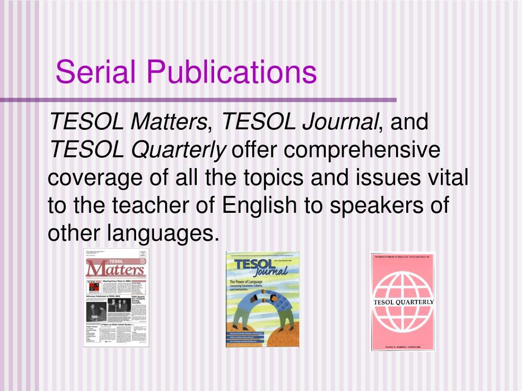 Serial Publications