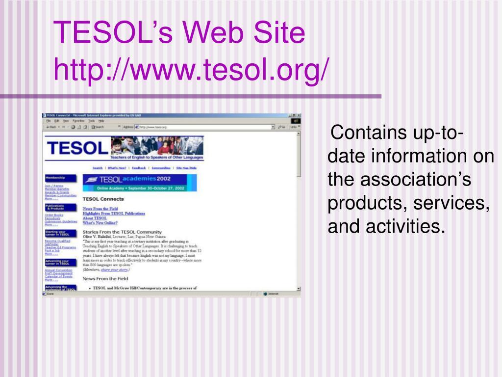 TESOL's Web Site
