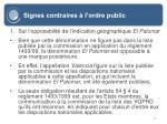 signes contraires l ordre public61