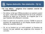 signes distinctifs non distinctifs 7 1 b16