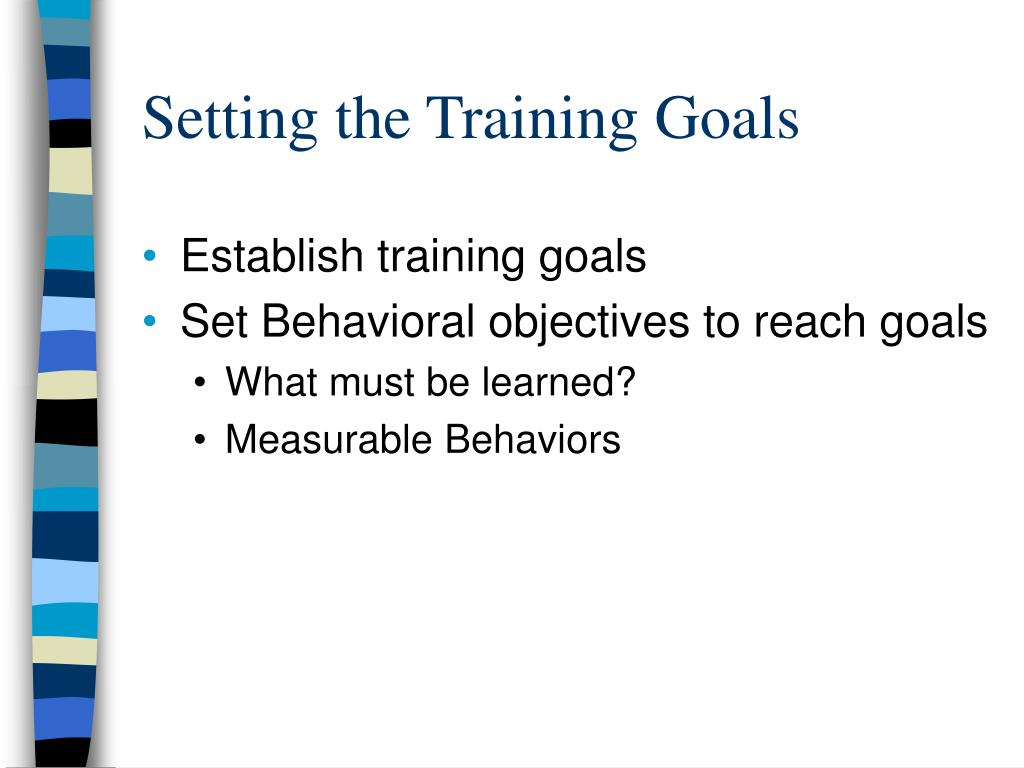 Setting the Training Goals