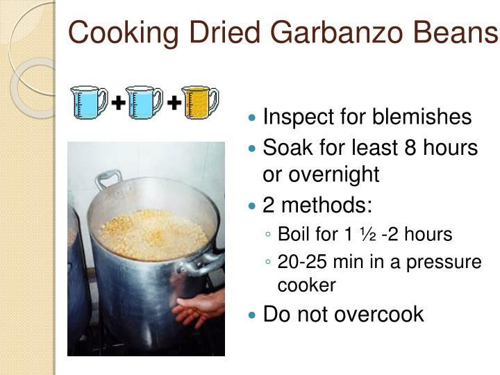 Cooking Dried Garbanzo Beans