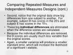 comparing repeated measures and independent measures designs cont25