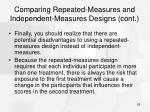 comparing repeated measures and independent measures designs cont26