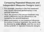 comparing repeated measures and independent measures designs cont27