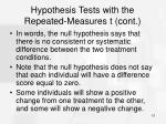 hypothesis tests with the repeated measures t cont10