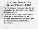 hypothesis tests with the repeated measures t cont15
