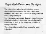 repeated measures designs