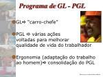programa de gl pgl