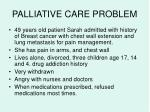 palliative care problem