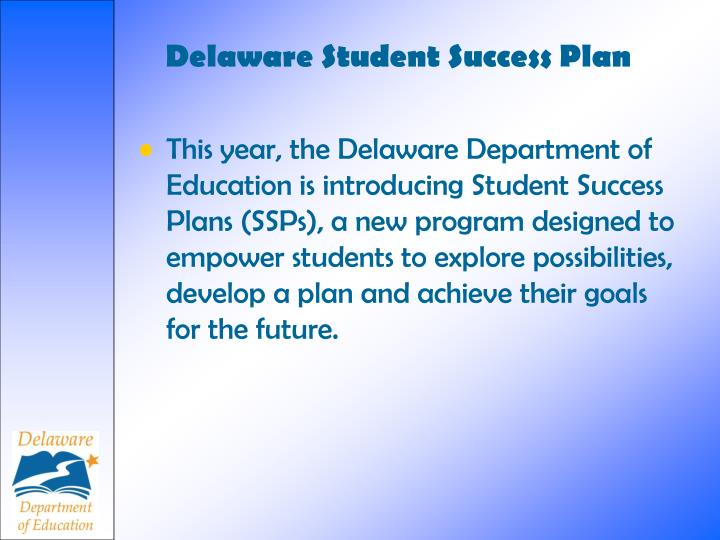 Delaware student success plan