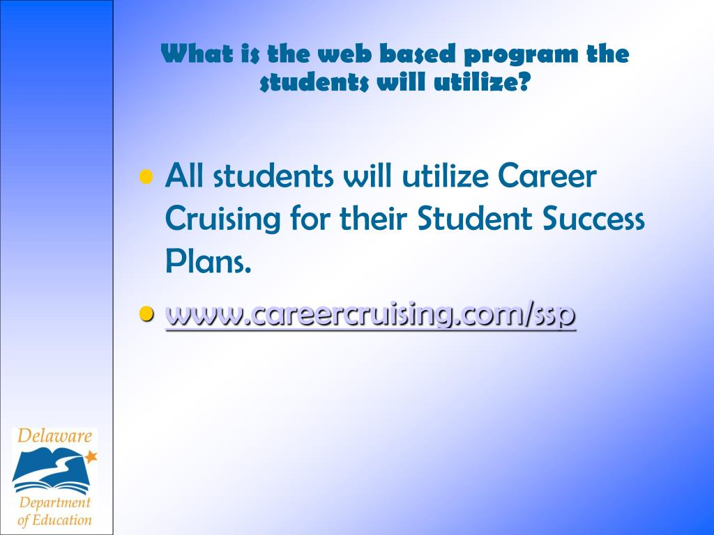 What is the web based program the students will utilize?