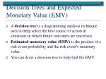 decision trees and expected monetary value emv