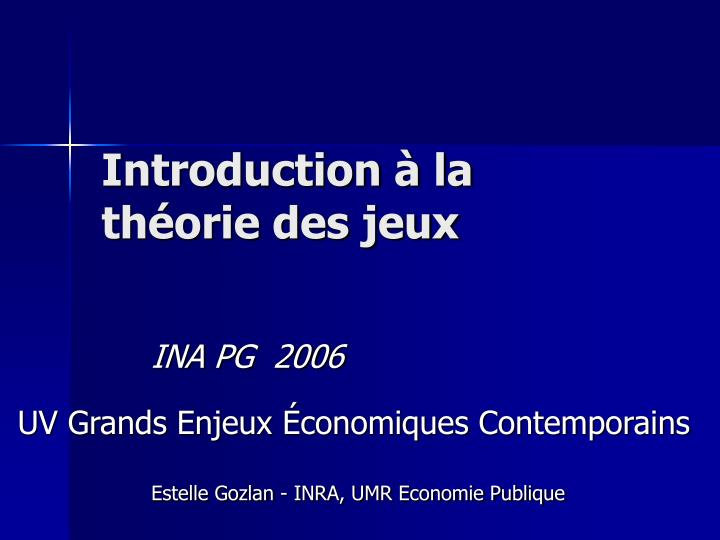 introduction la th orie des jeux n.
