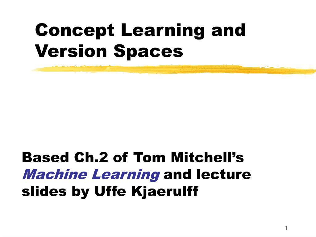 concept learning and version spaces l.