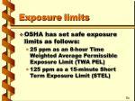 exposure limits25