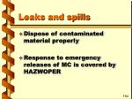 leaks and spills78