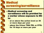 medical screening surveillance36