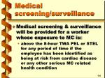 medical screening surveillance37