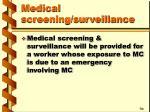medical screening surveillance38
