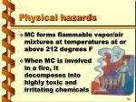 physical hazards14