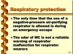 respiratory protection66