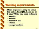 training requirements10
