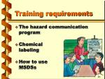 training requirements6