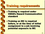 training requirements7