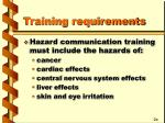 training requirements8