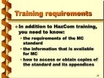 training requirements9