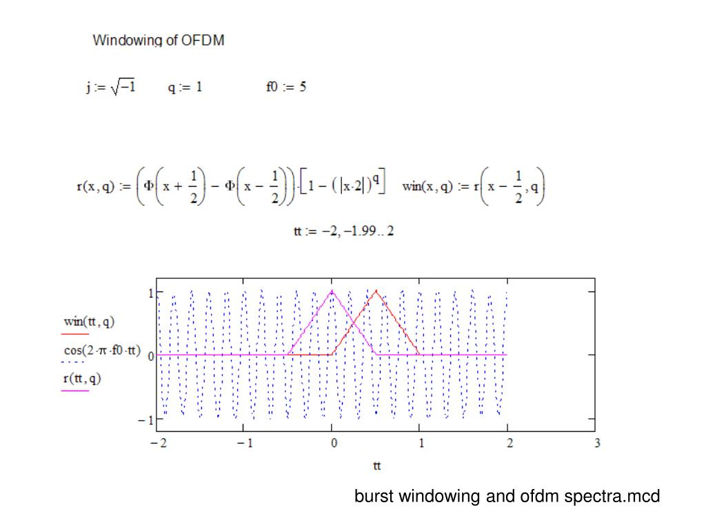 burst windowing and ofdm spectra.mcd