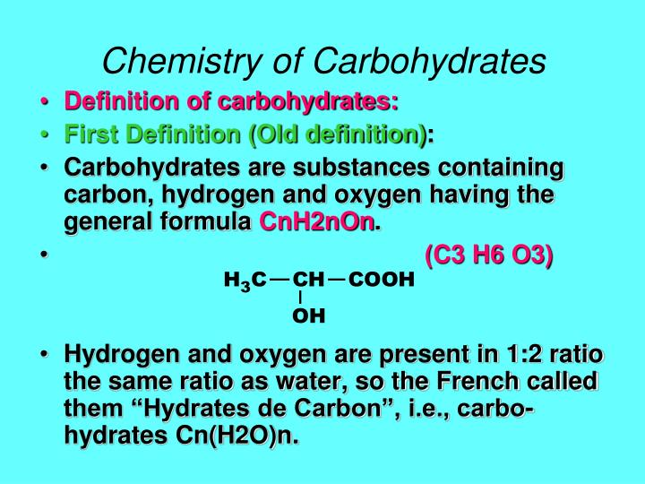 an overview of the carbohydrates of sugar in chemistry Intrigued as much by its complex nature as by its outsider status in traditional organic chemistry,  and impact of carbohydrates,  of sugar hydroxyl.