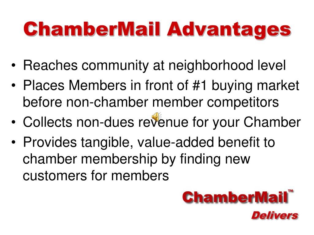 ChamberMail Advantages