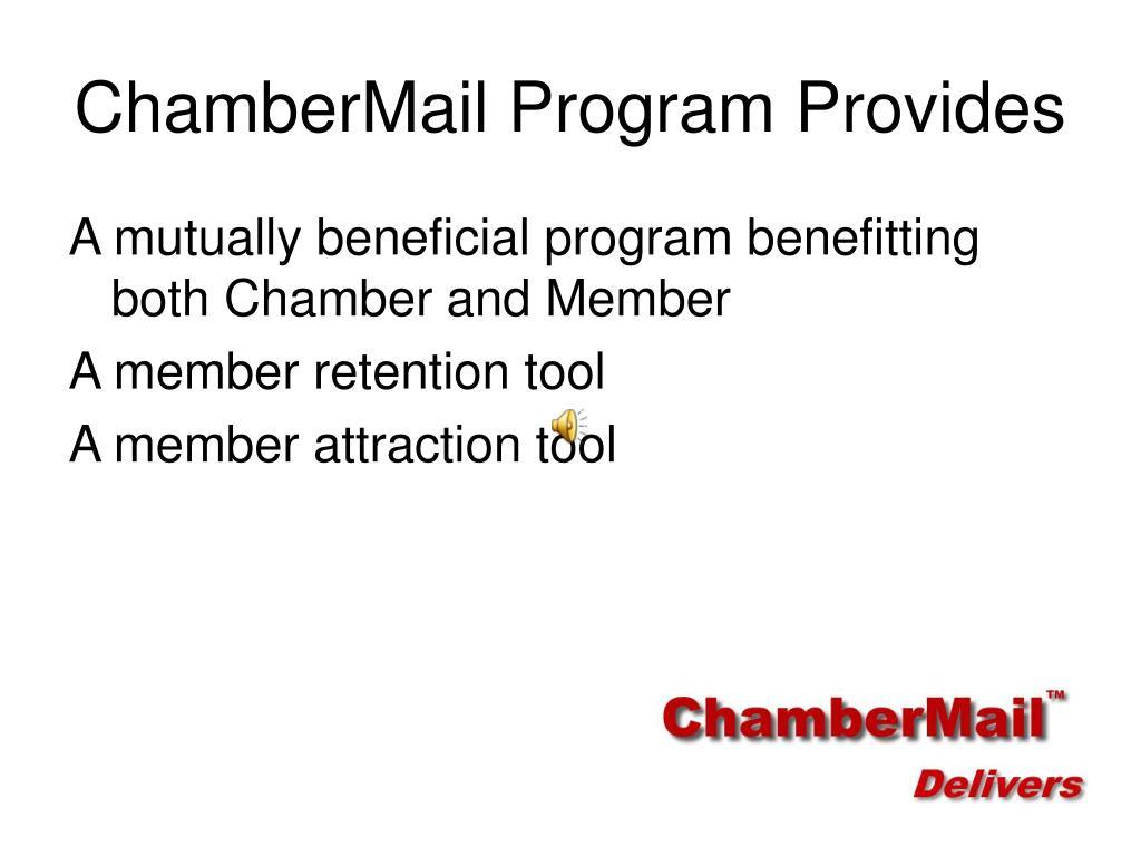 ChamberMail Program Provides