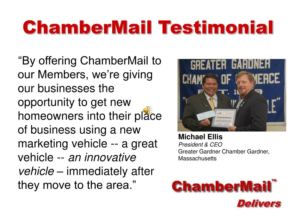 ChamberMail Testimonial
