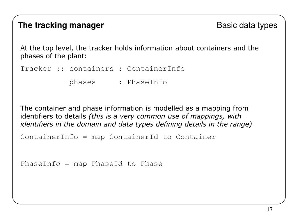 The tracking manager