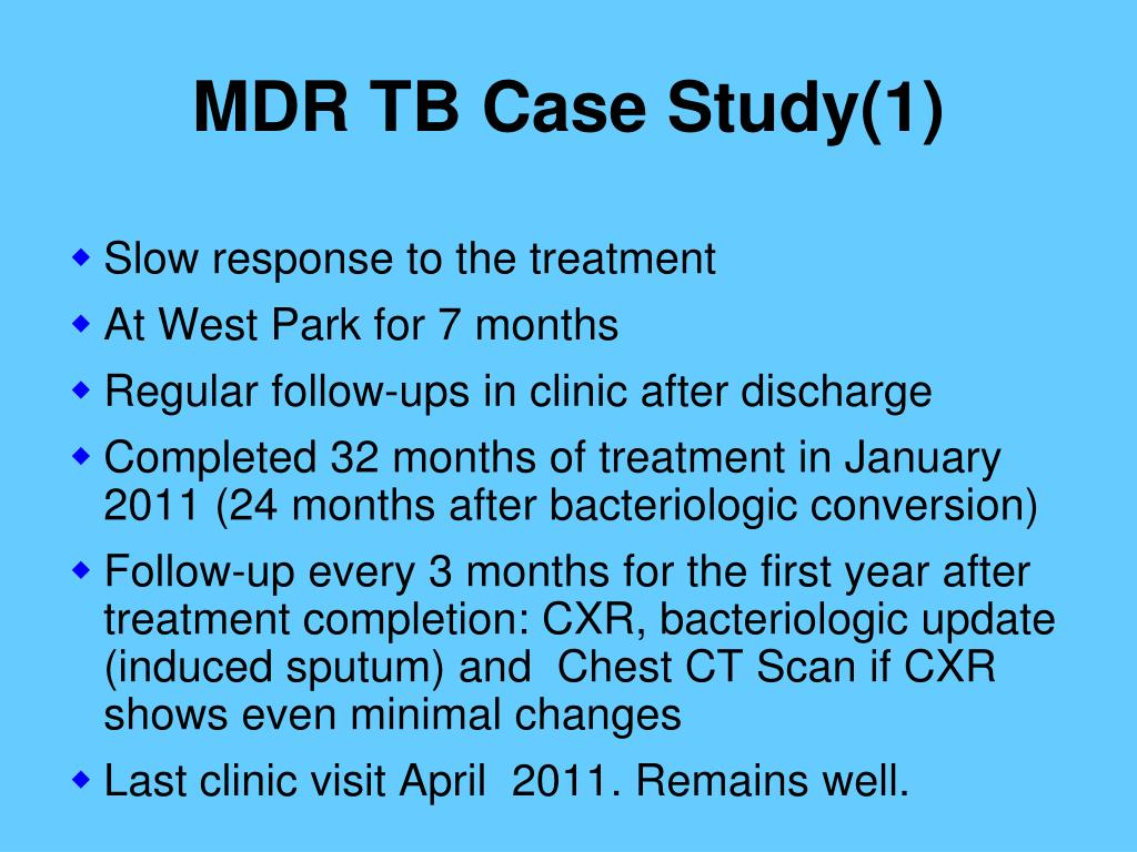 tuberculosis case study answers Answer tuberculosis its imp to study medical history in case of tb because doctor come to a sharp hypothesis in less time to stop it at mild stage as a.