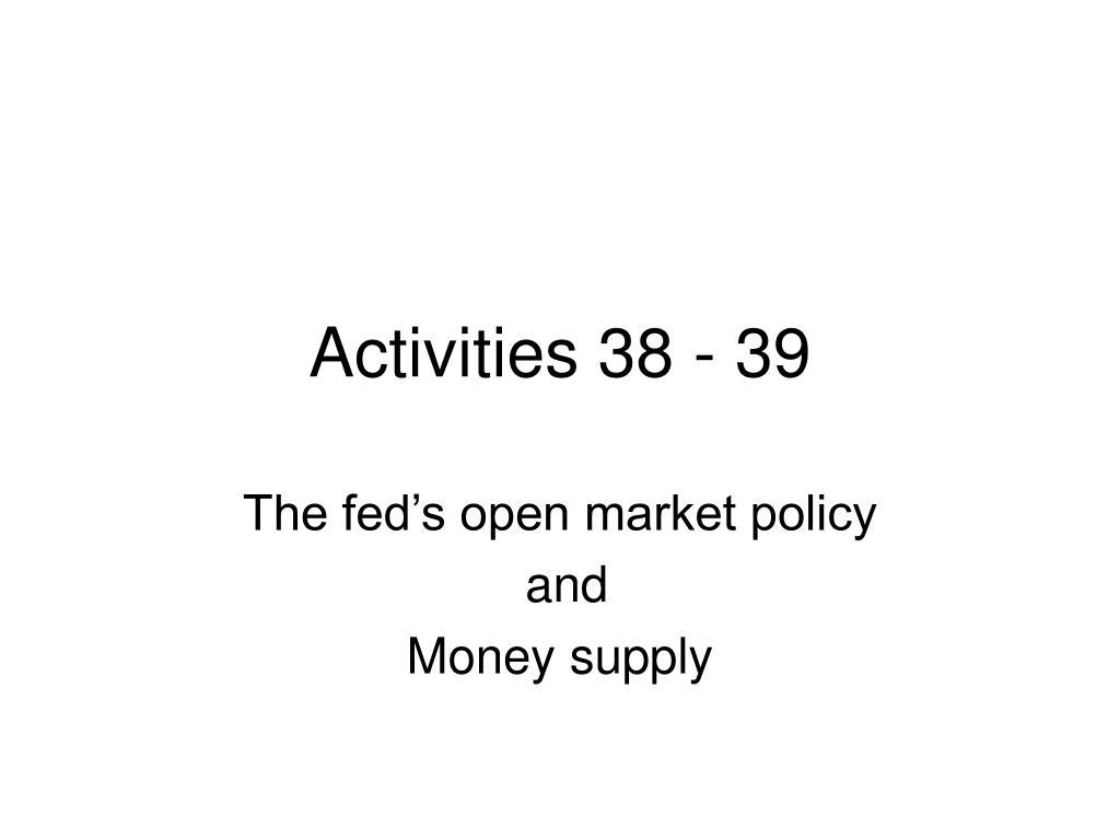 Activities 38 - 39