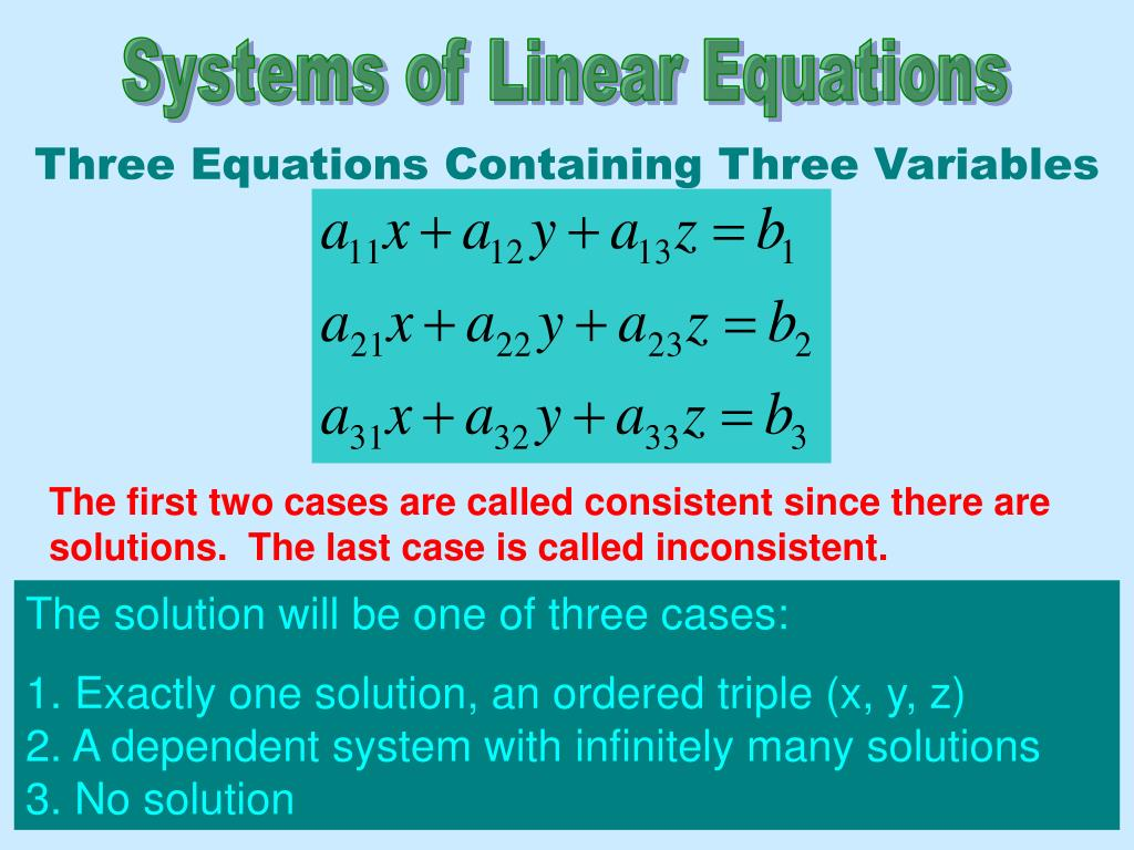 systems with three variables - HD1024×768