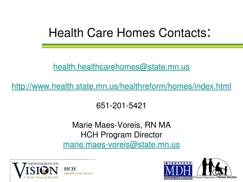 Health Care Homes Contacts
